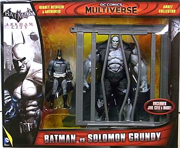 MATTEL DC COMICS MULTIVERSE 4インチアクションフィギュア BATMAN: ARKHAM CITY BATMAN VS SOLOMON GRUNDY