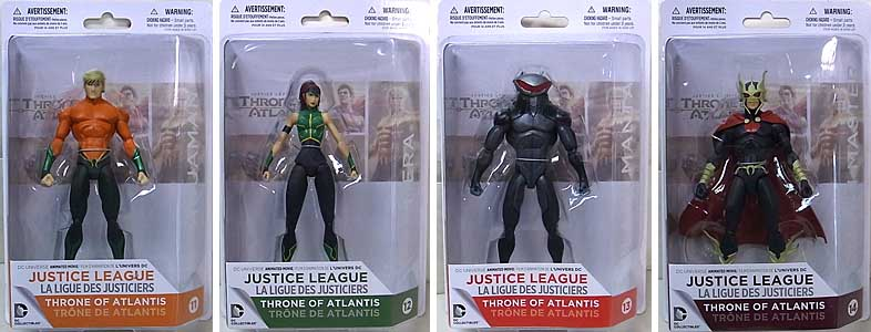DC COLLECTIBLES DC UNIVERSE ANIMATED MOVIE JUSTICE LEAGUE: THRONE OF ATLANTIS 4種セット