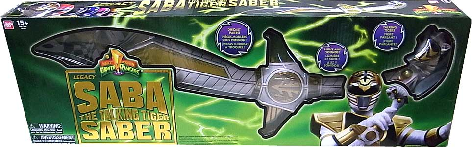 USA BANDAI POWER RANGERS MIGHTY MORPHIN LEGACY SABA THE TALKING TIGER SABER