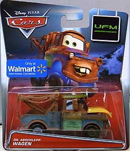 MATTEL CARS 2015 USA WALMART限定 CARS TOON シングル UNIDENTIFIED FLYING MATER DR. ABSCHLEPP WAGEN 台紙傷み特価
