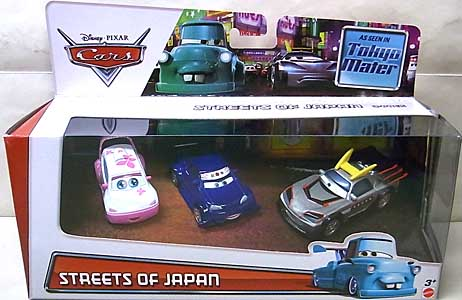 MATTEL CARS 2015 USA WALMART限定 CARS TOON 3PACK STREETS OF JAPAN [CHO入り]