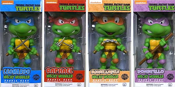 FUNKO WACKY WOBBLER TEENAGE MUTANT NINJA TURTLES 4種セット