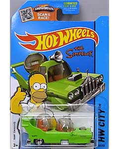 MATTEL HOT WHEELS 1/64スケール 2015 HW CITY THE SIMPSONS THE HOMER #058