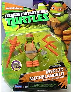 PLAYMATES NICKELODEON TEENAGE MUTANT NINJA TURTLES ベーシックフィギュア 2015 MYSTIC MICHELANGELO 台紙傷み特価
