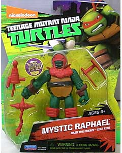 PLAYMATES NICKELODEON TEENAGE MUTANT NINJA TURTLES ベーシックフィギュア 2015 MYSTIC RAPHAEL 台紙傷み特価