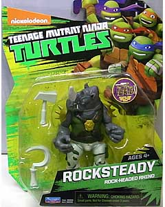 PLAYMATES NICKELODEON TEENAGE MUTANT NINJA TURTLES ベーシックフィギュア 2015 ROCKSTEADY 台紙傷み特価