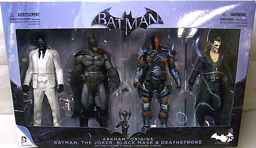 DC COLLECTIBLES BATMAN: ARKHAM ORIGINS 4PACK BATMAN、THE JOKER、BLACK MASK、DEATHSTROKE