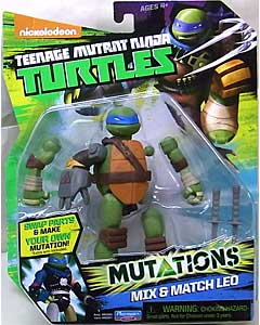 PLAYMATES NICKELODEON TEENAGE MUTANT NINJA TURTLES ベーシックフィギュア 2015 MUTATIONS MIX & MATCH LEO