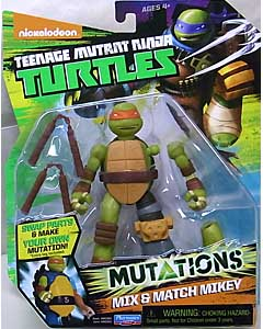 PLAYMATES NICKELODEON TEENAGE MUTANT NINJA TURTLES ベーシックフィギュア 2015 MUTATIONS MIX & MATCH MIKEY