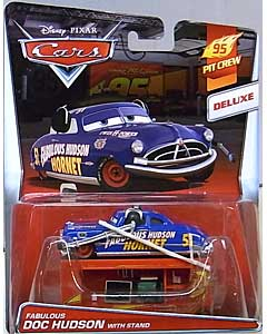 MATTEL CARS 2015 DELUXE FABULOUS DOC HUDSON WITH STAND ブリスター傷み特価