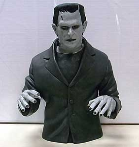 DIAMOND SELECT UNIVERSAL MONSTERS BUST BANK FRANKENSTEIN [BLACK & WHITE]