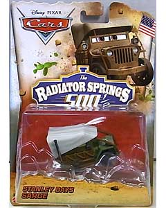 MATTEL CARS 2014 THE RADIATOR SPRINGS 500 1/2 シングル STANLEY DAYS SARGE 台紙傷み特価