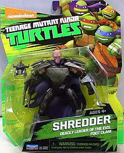 PLAYMATES NICKELODEON TEENAGE MUTANT NINJA TURTLES ベーシックフィギュア 2015 SHREDDER [UNHELMETED] 台紙傷み特価