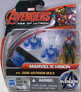 HASBRO 映画版 AVENGERS: AGE OF ULTRON 2.5インチアクションフィギュア MARVEL'S VISION VS SUB-ULTRON 011 3PACK