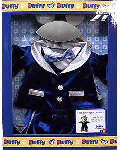 DISNEY USAディズニーテーマパーク限定 DUFFY THE DISNEY BEAR COSTUME DISNEYLAND 60TH DIAMOND CELEBRATION OUTFIT BOX SET