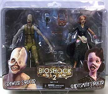 NECA PLAYER SELECT BIOSHOCK 2 7インチアクションフィギュア CRAWLER SPLICER & LADYSMITH SPLICER 2PACK
