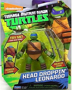 PLAYMATES NICKELODEON TEENAGE MUTANT NINJA TURTLES ベーシックフィギュア 2015 HEAD DROPPIN' LEONARDO