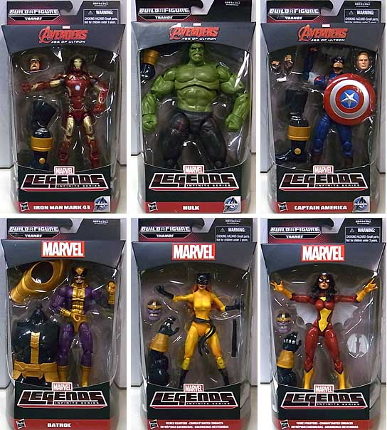 HASBRO MARVEL LEGENDS 2015 INFINITE SERIES AVENGERS [THANOS SERIES] 6種セット [国内版]