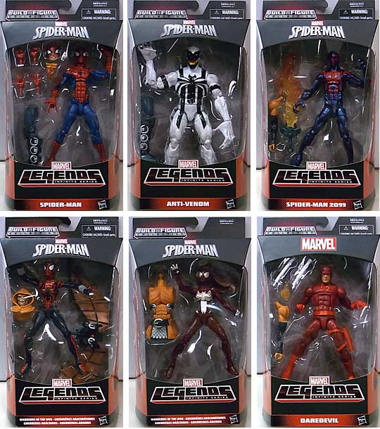 HASBRO MARVEL LEGENDS 2015 INFINITE SERIES SPIDER-MAN [HOBGOBLIN SERIES] 6種セット