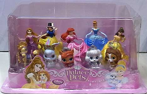 USA DISNEY STORE 限定 DELUXE FIGURINE PLAYSET PALACE PETS パッケージワレ特価