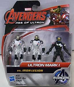 HASBRO 映画版 AVENGERS: AGE OF ULTRON 2.5インチアクションフィギュア ULTRON MARK I VS IRON LEGION 3PACK
