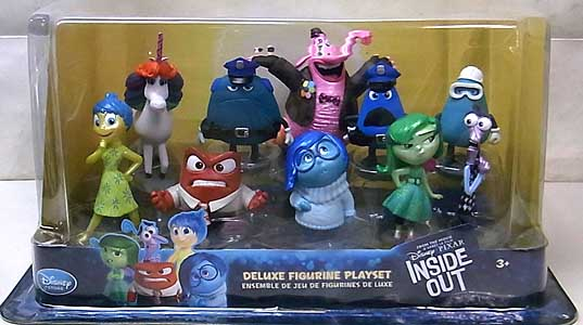 USA DISNEY STORE 限定 DELUXE FIGURINE PLAYSET INSIDE OUT パッケージ傷み特価