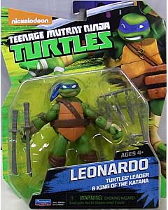 PLAYMATES NICKELODEON TEENAGE MUTANT NINJA TURTLES ベーシックフィギュア 2015 LEONARDO (目無し)