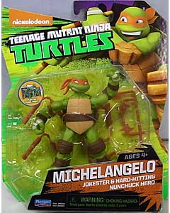 PLAYMATES NICKELODEON TEENAGE MUTANT NINJA TURTLES ベーシックフィギュア 2015 MICHELANGELO (目無し)