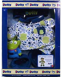 DISNEY USAディズニーテーマパーク限定 DUFFY THE DISNEY BEAR COSTUME PAJAMA OUTFIT TOY STORY ALIEN BOX SET