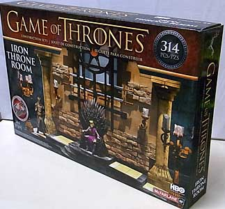 McFARLANE TOYS GAME OF THRONES BUILDING SETS IRON THRONE ROOM