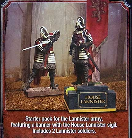 McFARLANE TOYS GAME OF THRONES BUILDING SETS LANNISTER BANNER PACK