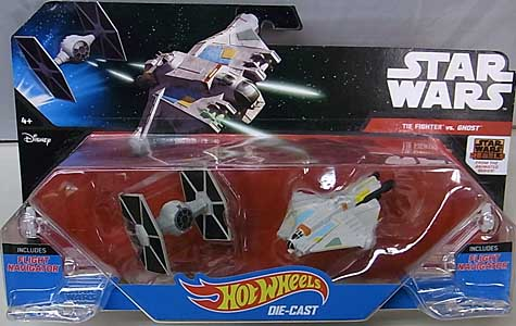 MATTEL HOT WHEELS STAR WARS DIE-CAST VEHICLE 2PACK TIE FIGHTER VS GHOST