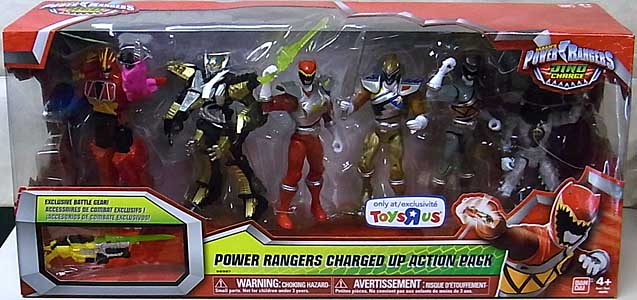 USA BANDAI POWER RANGERS DINO CHARGE 5インチアクションフィギュア POWER RANGERS CHARGED UP ACTION PACK