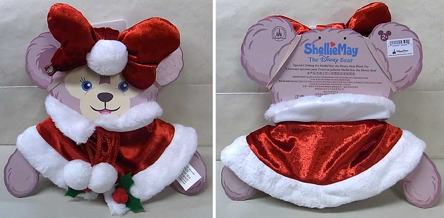 DISNEY USAディズニーテーマパーク限定 DUFFY THE DISNEY BEAR SHELLIEMAY COSTUME [CHRISTMAS HOLIDAY]