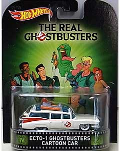 MATTEL HOT WHEELS 1/64スケール 2015 RETRO ENTERTAINMENT THE REAL GHOSTBUSTERS ECTO-1 GHOSTBUSTERS CARTOON CAR