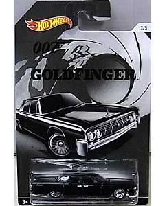 MATTEL HOT WHEELS 1/64スケール 2015 WALMART限定 007 GOLDFINGER 64 LINCOLN CONTINENTAL