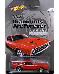 MATTEL HOT WHEELS 1/64スケール 2015 WALMART限定 007 DIAMONDS ARE FOREVER 71 MUSTANG MACH 1