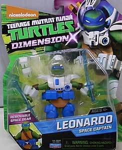 PLAYMATES NICKELODEON TEENAGE MUTANT NINJA TURTLES ベーシックフィギュア 2015 DIMENSION X LEONARDO SPACE CAPTAIN