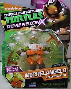 PLAYMATES NICKELODEON TEENAGE MUTANT NINJA TURTLES ベーシックフィギュア 2015 DIMENSION X MICHELANGELO SPACE TRAVELER ブリスター傷み特価