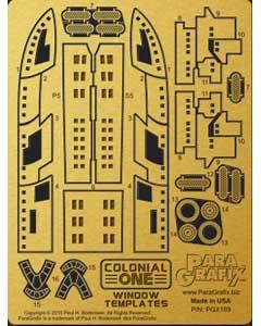 PARAGRAFIX メビウスモデル 1/350スケール バトルスターギャラクティカ コロニアルワン用 エッチングパーツ / PGX189