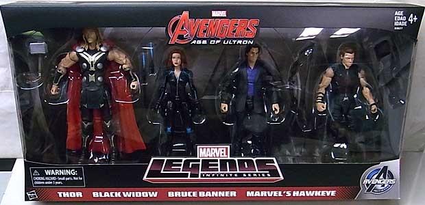 HASBRO MARVEL LEGENDS 2015 INFINITE SERIES USA AMAZON限定 映画版 AVENGERS: AGE OF ULTRON 4PACK パッケージ傷み特価