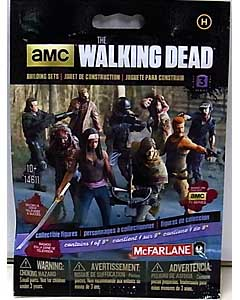 McFARLANE TOYS THE WALKING DEAD TV BUILDING SETS BLIND BAG [HUMAN] SERIES 3 1 PACK