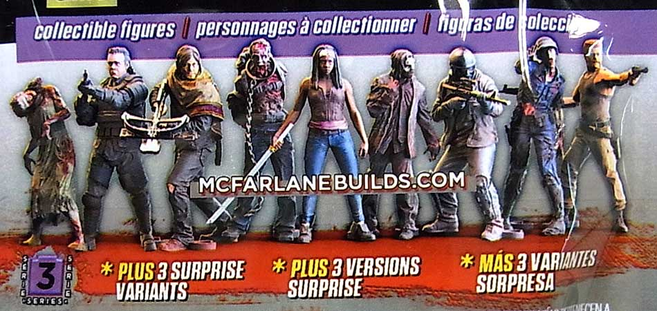 McFARLANE TOYS THE WALKING DEAD TV BUILDING SETS BLIND BAG [WALKER] SERIES 3 1 PACK