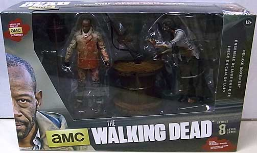 McFARLANE TOYS THE WALKING DEAD TV 5インチアクションフィギュア SERIES 8 DELUXE BOX SET MORGAN WITH IMPALED WALKER