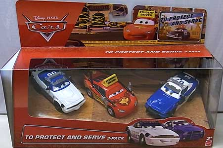 MATTEL CARS 2015 USA WALMART限定 CARS TOON 3PACK TO PROTECT AND SERVE