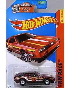 MATTEL HOT WHEELS 1/64スケール 2015 HW RACE DMC DELOREAN #184 [SUPER TREASURE HUNTS]