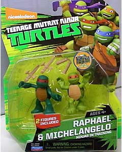 PLAYMATES NICKELODEON TEENAGE MUTANT NINJA TURTLES ベーシックフィギュア 2015 NINJAS IN TRAINING RAPHAEL & MICHELANGELO