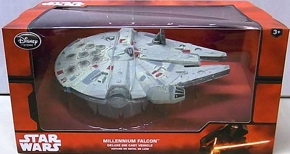 STAR WARS USAディズニーストア限定 DIE CAST VEHICLE MILLENNIUM FALCON [NEW PACKAGE] パッケージ傷み特価