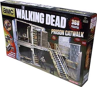 McFARLANE TOYS THE WALKING DEAD TV BUILDING SETS PRISON CATWALK