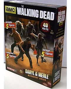 McFARLANE TOYS THE WALKING DEAD TV BUILDING SETS DARYL & MERLE WOODBURY ARENA